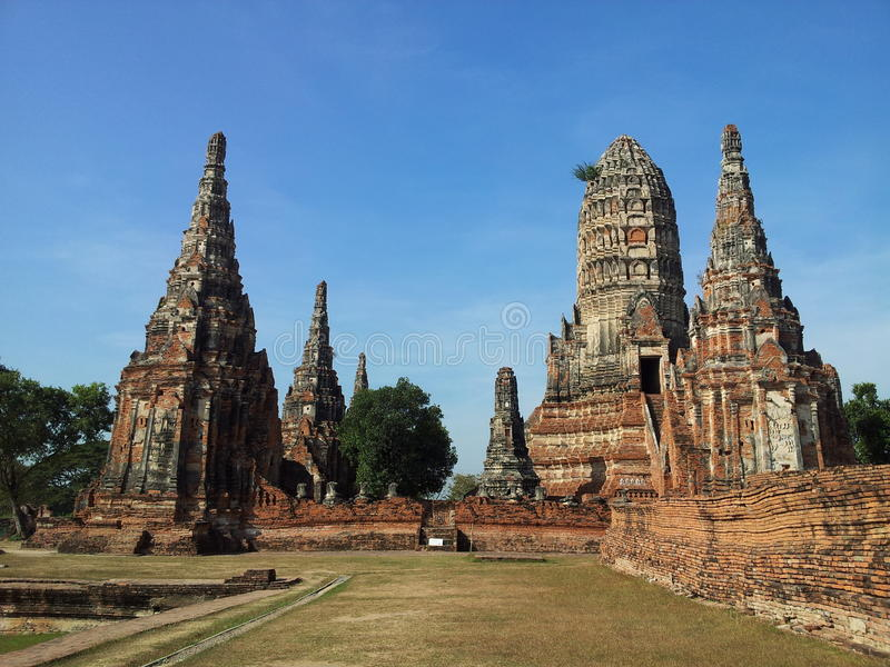 Wat Chaiwattanaram, Ayutthaya obraz royalty free