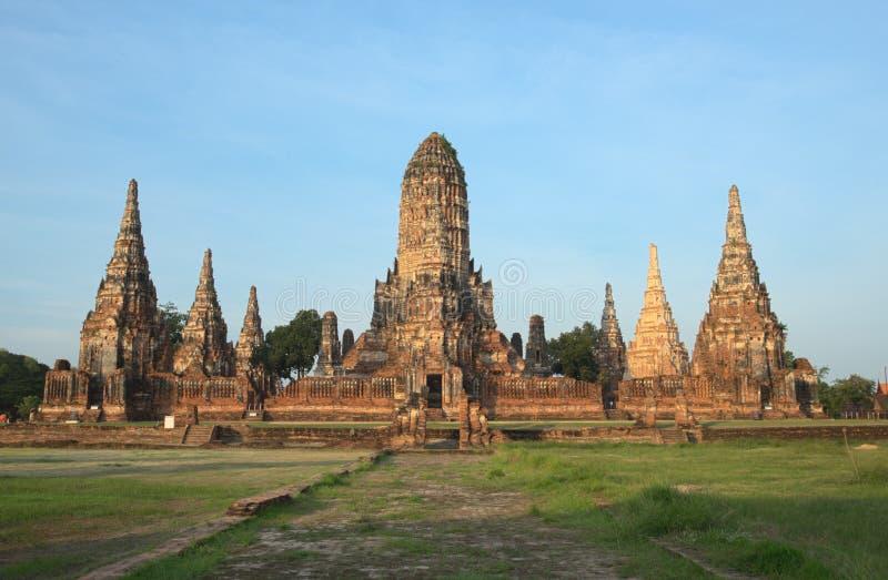Wat Chaiwattanaram Temple, Ayutthaya, Tailandia Vista dal turista fotografia stock