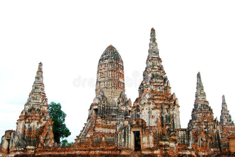 Wat Chaiwatthanaram是佛教寺庙在阿尤特拉利夫雷斯历史公园,泰国城市 库存图片