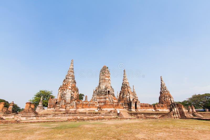 Download Wat-chaiwatthanaram阿尤特拉利夫雷斯泰国 库存图片 - 图片 包括有 天空, 石头: 30328053