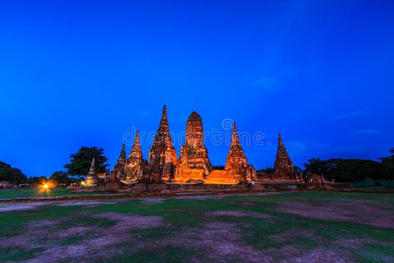 Wat Chaiwatthanaram,泰国 库存照片