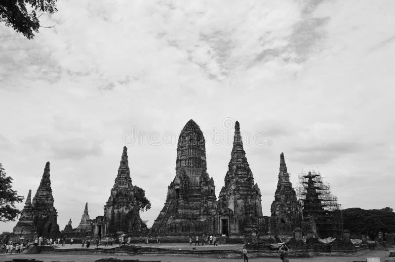 Wat Chaiwatthanaram αρχαίο και βουδιστικός ναός καταστροφών στο ιστορικό πάρκο Ayutthaya στοκ εικόνα με δικαίωμα ελεύθερης χρήσης