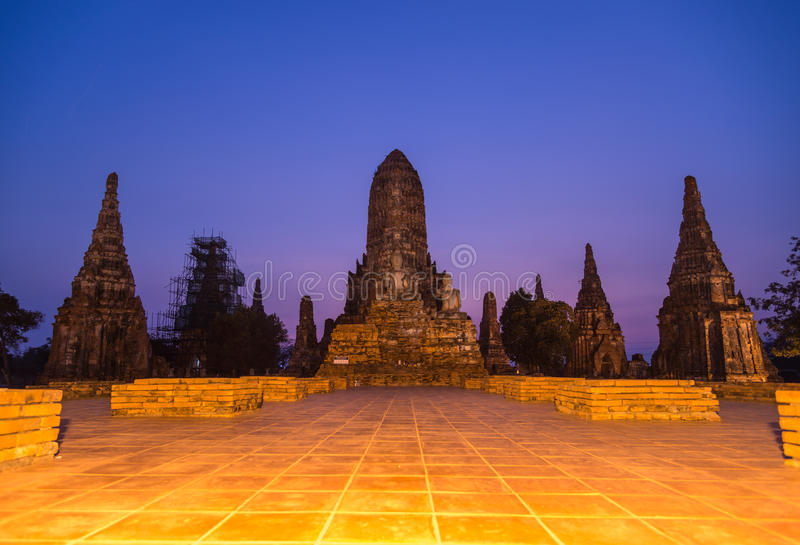 Wat Chaiwatthanaram старого виска провинции Ayutthaya Ayutthaya стоковое изображение rf