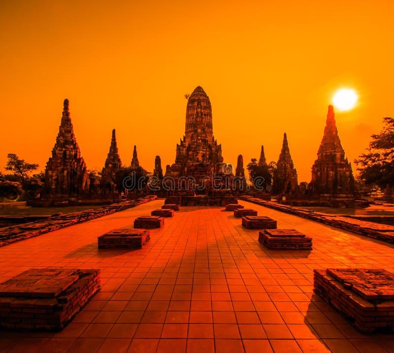 Wat Chaiwatthanaram 免版税库存图片