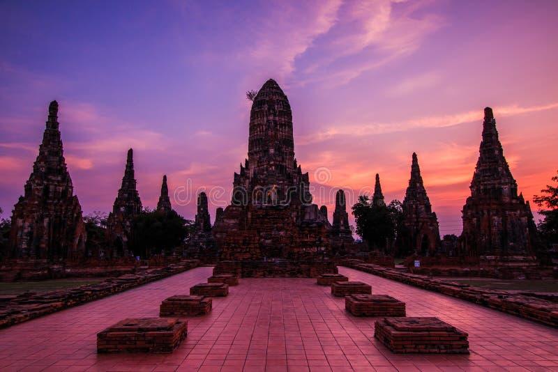 Wat Chaiwatthanaram 图库摄影