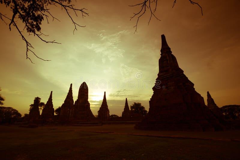 Wat Chaiwatthanaram 库存照片