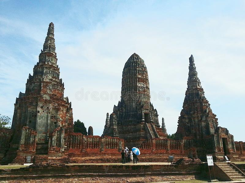 Wat Chaiwatthanaram stockfotos