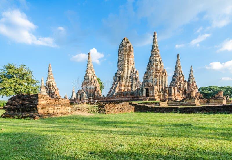 Wat Chaiwatthanaram in Ayutthaya royalty-vrije stock fotografie