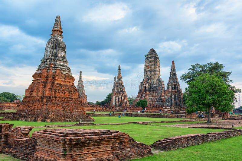 Wat Chaiwatthanaram - Ayutthaya, Thaïlande photos libres de droits