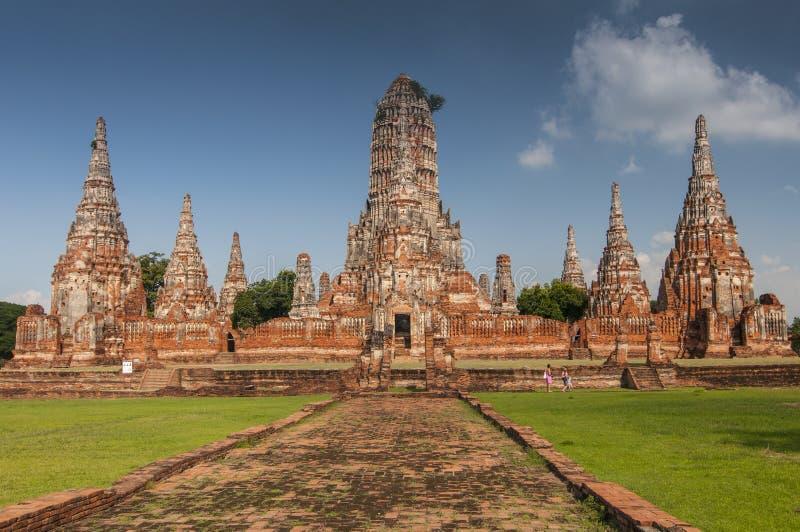 Wat Chaiwatthanaram Buddhist monastery in Ayutthaya, Thailand, Bangkok.  royalty free stock image