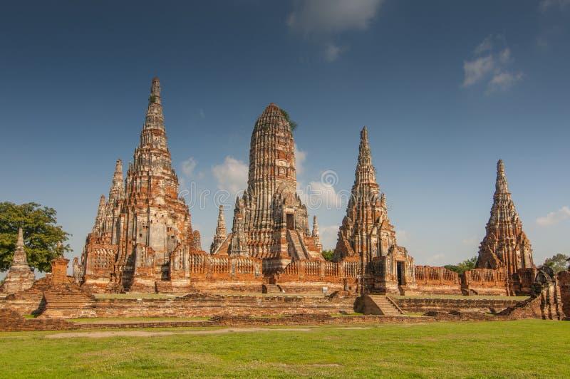 Wat Chaiwatthanaram Buddhist monastery in Ayutthaya, Thailand, Bangkok.  royalty free stock images