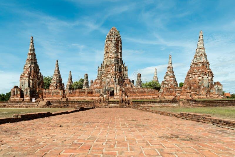 Wat Chaiwatthanaram-tempel in Ayutthaya-Provincie in Ayutthaya H stock afbeelding
