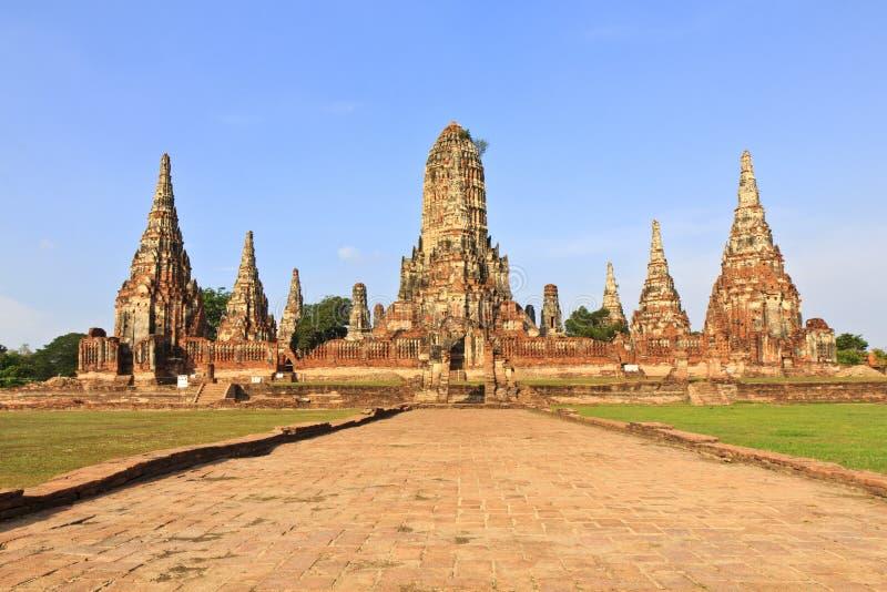 Wat Chaiwatthanaram, temple antique et monument en Thaïlande images stock