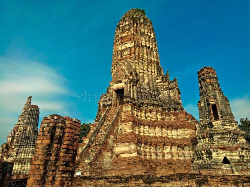 Wat Chaiwatthanaram temple in Ayuthaya Historical Park, a UNESCO world heritage site in Thailand.  stock photo