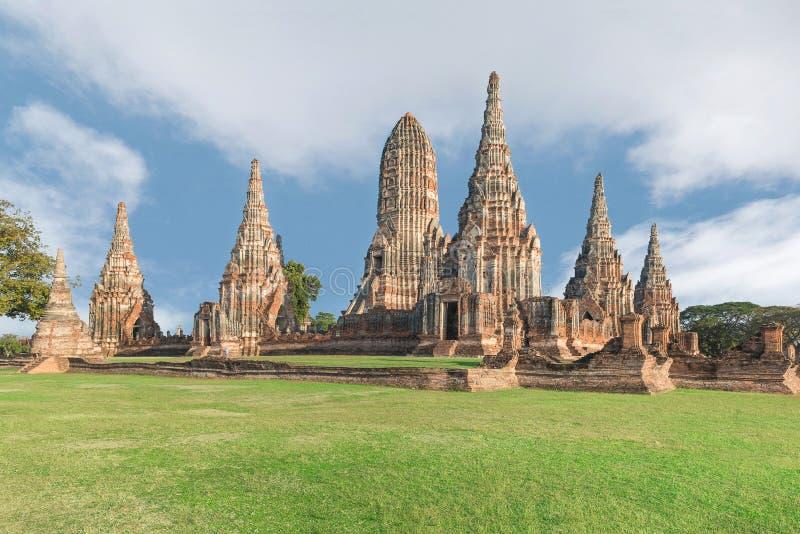 Wat Chaiwatthanaram Temple in Ayutthaya, Thailand royalty-vrije stock afbeeldingen