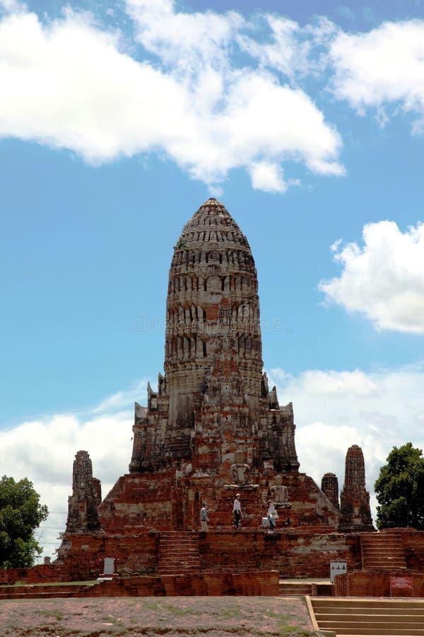 Wat Chaiwatthanaram, the Temple of long reign and glorious era. Pagonda or Stupa @ Ayutthaya, Thailand royalty free stock photography