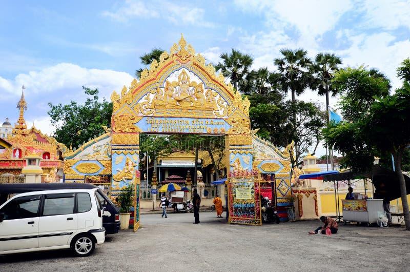 Wat Chaiyamangalaram Thai Buddhist Temple Penang Malaysia royaltyfria foton