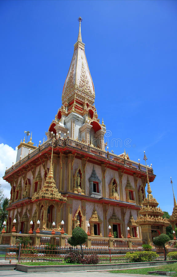 Wat Chalong lizenzfreies stockfoto