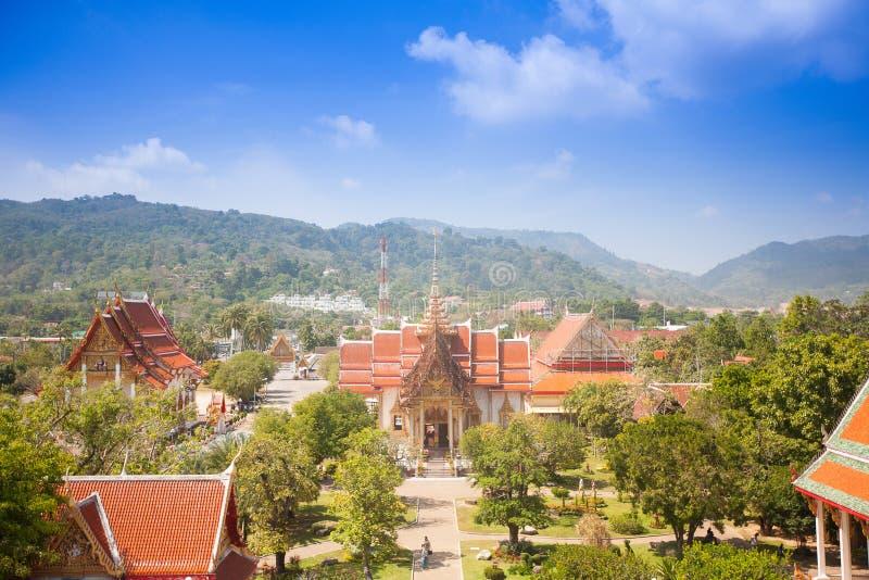 Wat Chalong, le temple le plus important à Phuket photo libre de droits