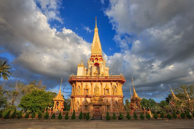 Wat Chalong Phuket Thaïlande image libre de droits