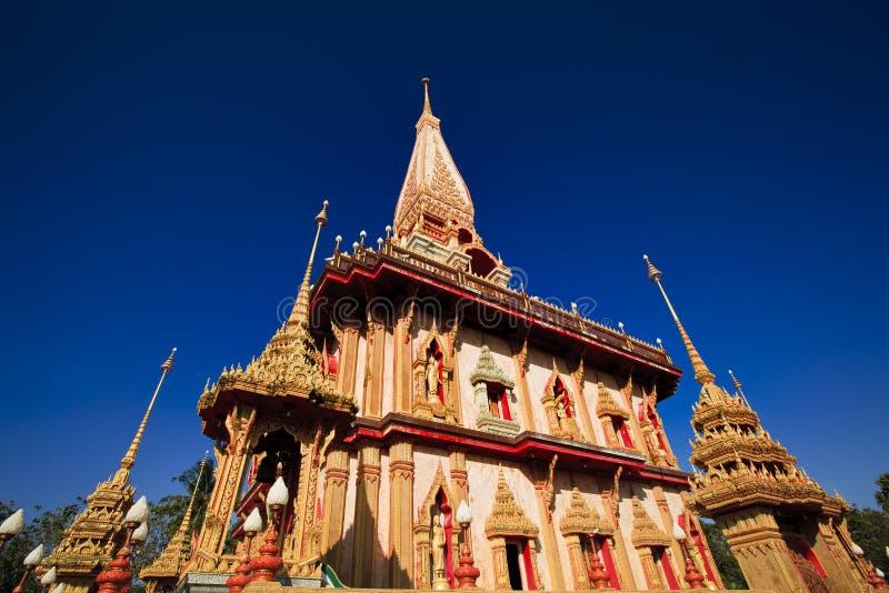 Temple de Wat Chalong à Phuket images stock