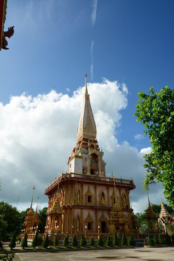Wat Chalong tempel arkivbilder