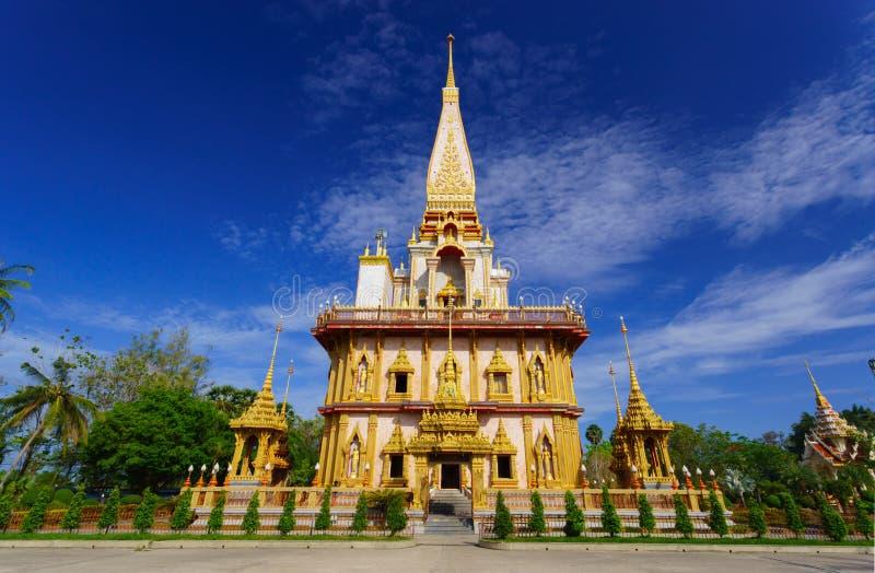 Wat Chalong tempel Phuket, Thailand fotografering för bildbyråer
