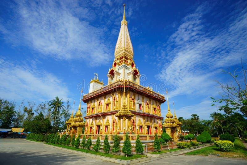 Wat Chalong-tempel Phuket, Thailand stock afbeelding