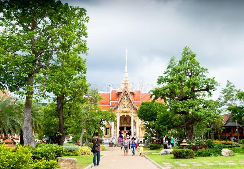 Wat Chalong Temple, Phuket, Thailand stock foto