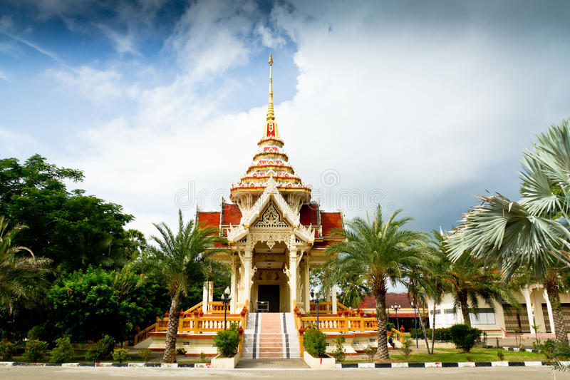 Wat Chalong Temple Phuket, Thailand arkivbild