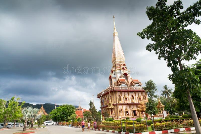 Wat Chalong Temple, Phuket, Thailand royalty-vrije stock foto's