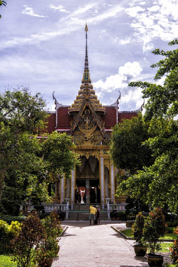 Wat Chalong von Phuket stockfotografie