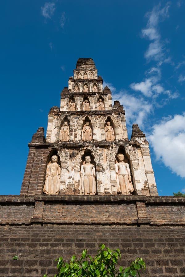 Wat Cham Thewi är den thailändska templet i Lamphun fotografering för bildbyråer