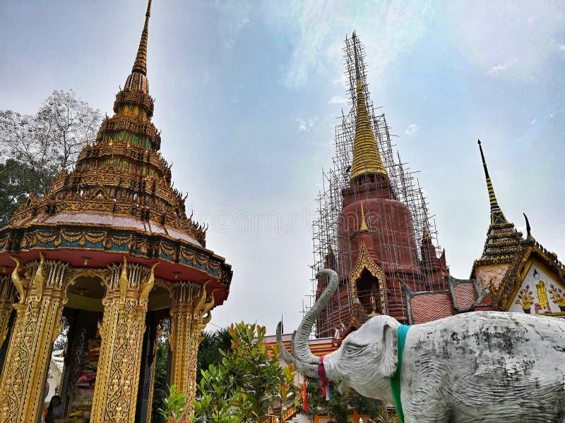 Wat Chang Hai. Railway, buddha royalty free stock images