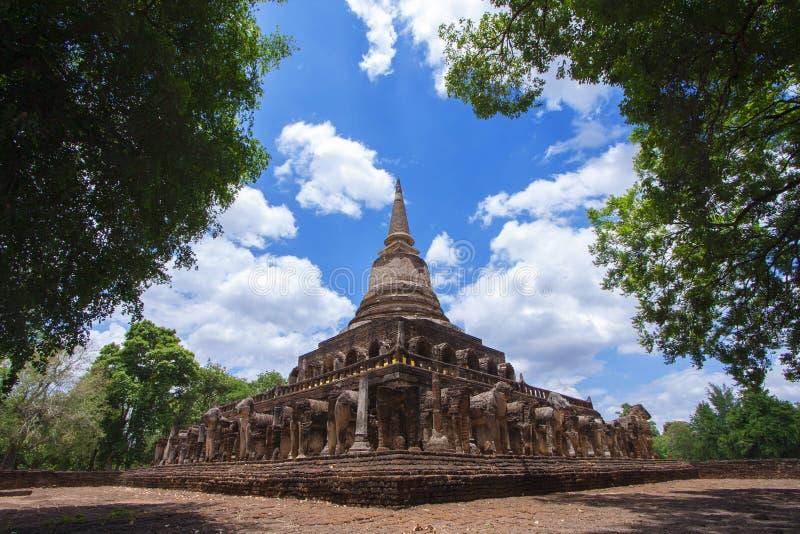 Wat Chang Lom imagen de archivo