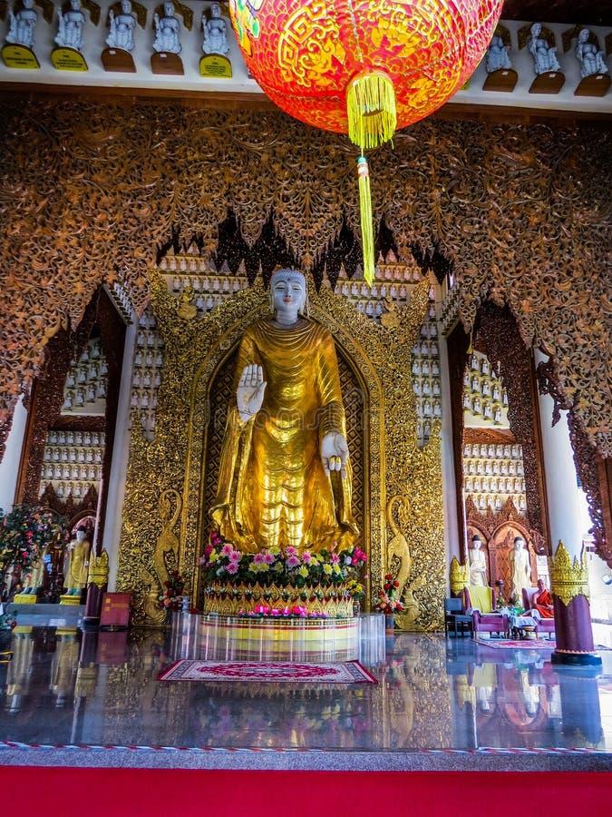 Wat Chayamangkalaram, interior royalty free stock photography