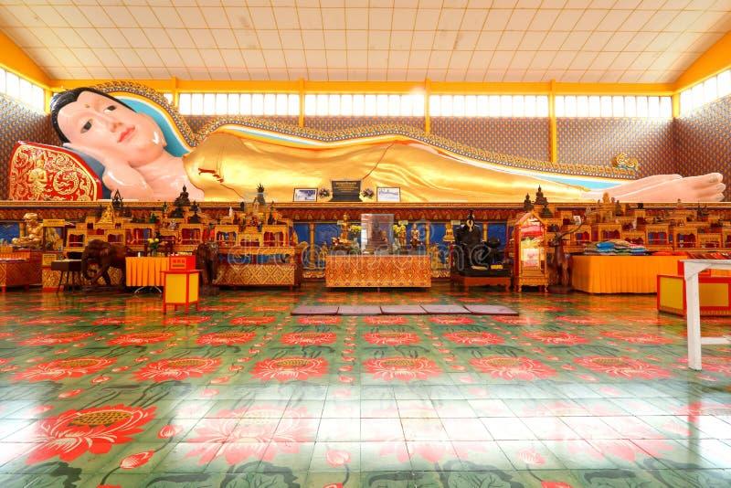 Wat Chayamangkalaram Thai Buddhist Temple Penang Malasia fotos de archivo
