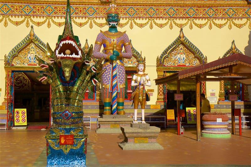Wat Chayamangkalaram Thai Temple del Buda de descanso Penang fotos de archivo