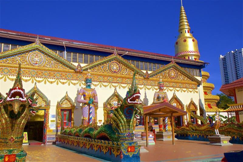 Wat Chayamangkalaram Thai Temple of the Reclining Buddha Penang stock images