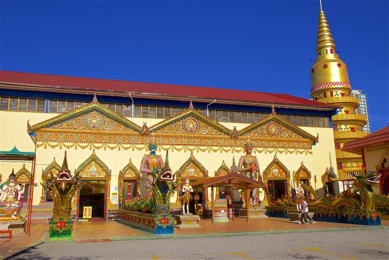Wat Chayamangkalaram Thai Temple of the Reclining Buddha Penang royalty free stock photos