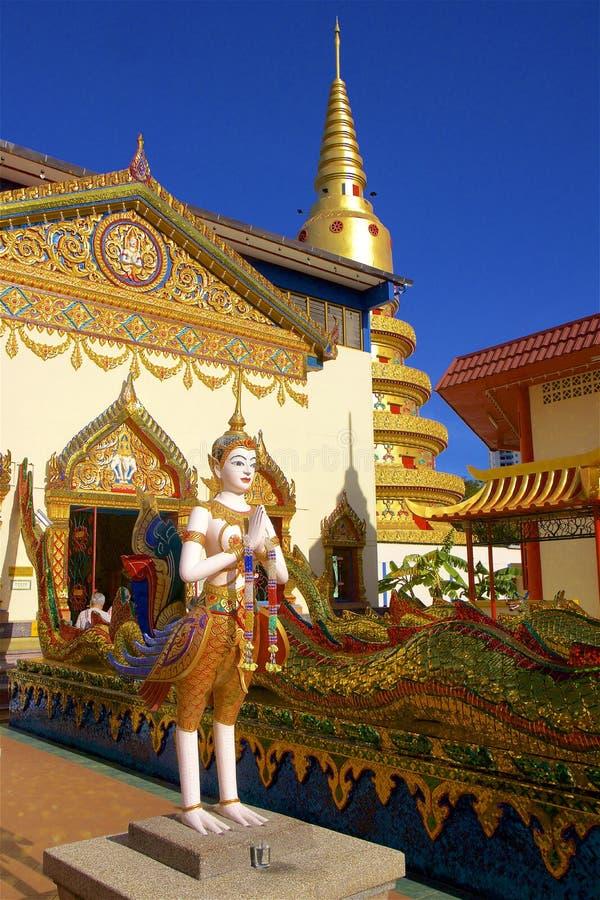 Wat Chayamangkalaram Thai Temple of the Reclining Buddha Penang royalty free stock photography