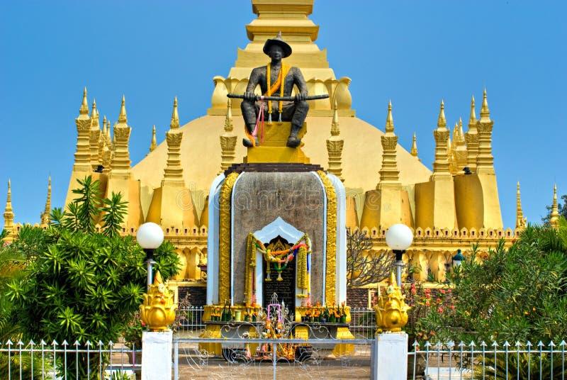 Wat che Luang, Laos. fotografie stock