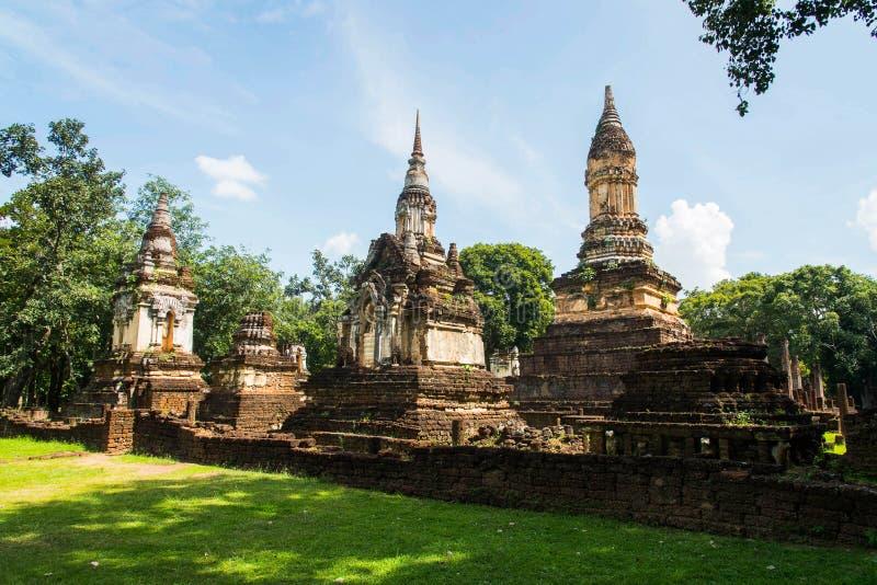 Wat Chedi Chet Thaew no parque histórico de Srisatchanalai em Sukhot foto de stock royalty free