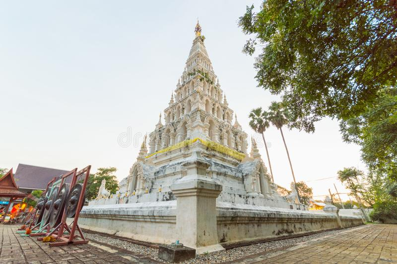 Wat Chedi Liam ή Wat Ku Kham στην αρχαία ταϊλανδική πόλη Wiang στοκ εικόνες