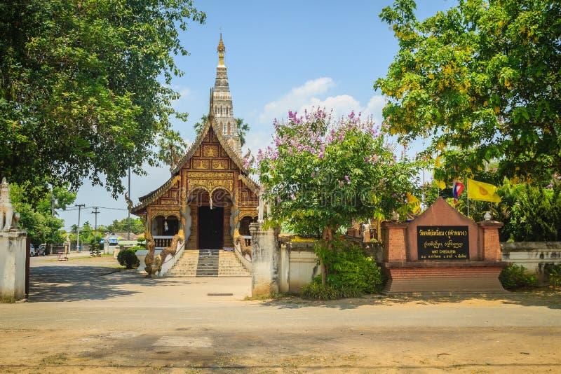 Wat Chedi Liam (ναός της τακτοποιημένης παγόδας), μόνος ο αρχαίος στοκ εικόνες με δικαίωμα ελεύθερης χρήσης