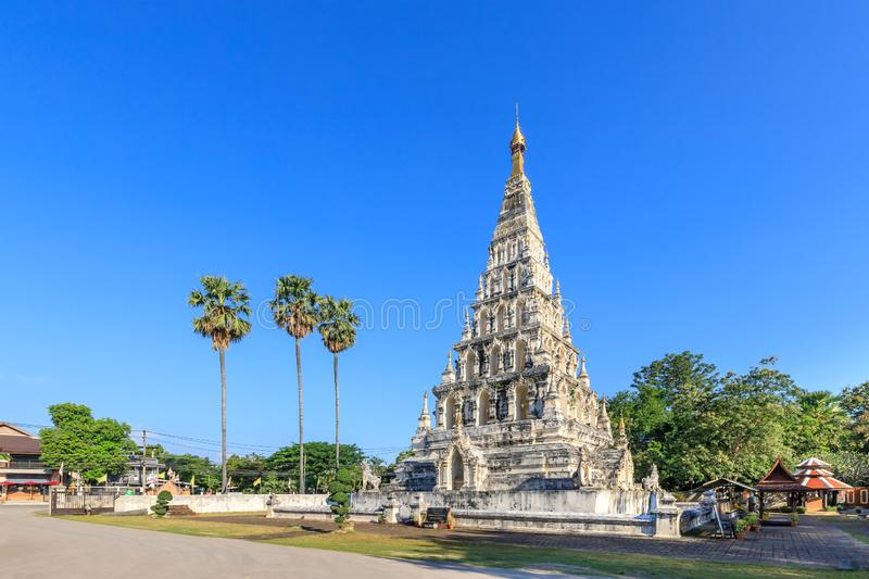 Wat Chedi Liam Ku Kham or Temple of the Squared Pagoda in ancient city of Wiang Kum Kam, Chiang Mai, Thailand.  stock image