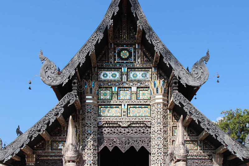 Wat Chedi Luang -清迈-泰国 图库摄影