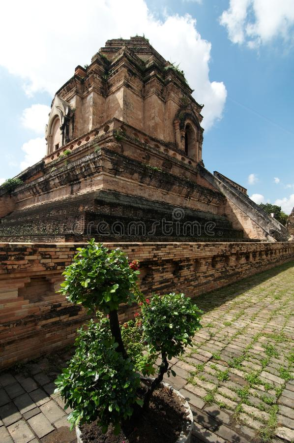 Wat Chedi Luang stockbild