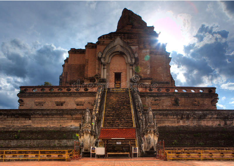 Wat Chedi Luang fotos de stock royalty free