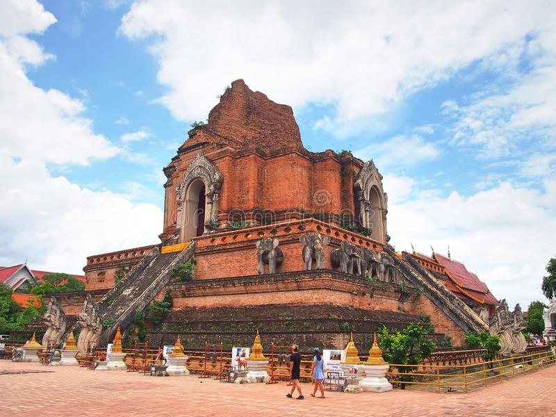 Wat Chedi Luang stock fotografie